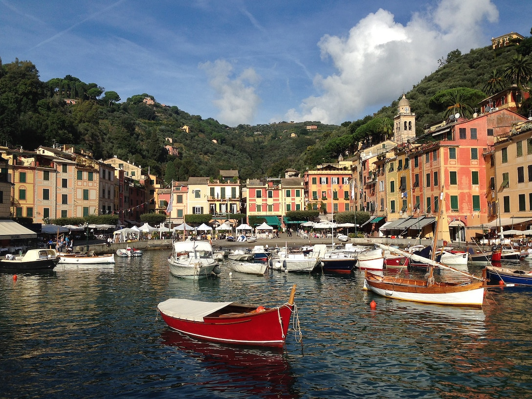 Portofino, Italy, sits just north of the Cinque Terre National Park in the Italian Riviera, as another popular tourist's destination boasting rich history, resorts, beaches and picturesque views. Visitors can find many recreational boats and ships parked in the harbor from all over Europe and even spot a celebrity or two. (U.S. Air Force photo/Staff Sgt. Jessica Hines)