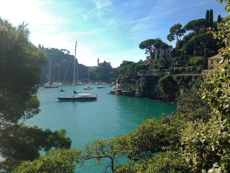 Portofino, Italy, sits just north of the Cinque Terre National Park in the Italian Riviera. One of the more popular resort towns, Portofino offers shopping, art galleries, cafes, restaurants, hiking, sightseeing and more to visitors. (U.S. Air Force photo/Staff Sgt. Jessica Hines)