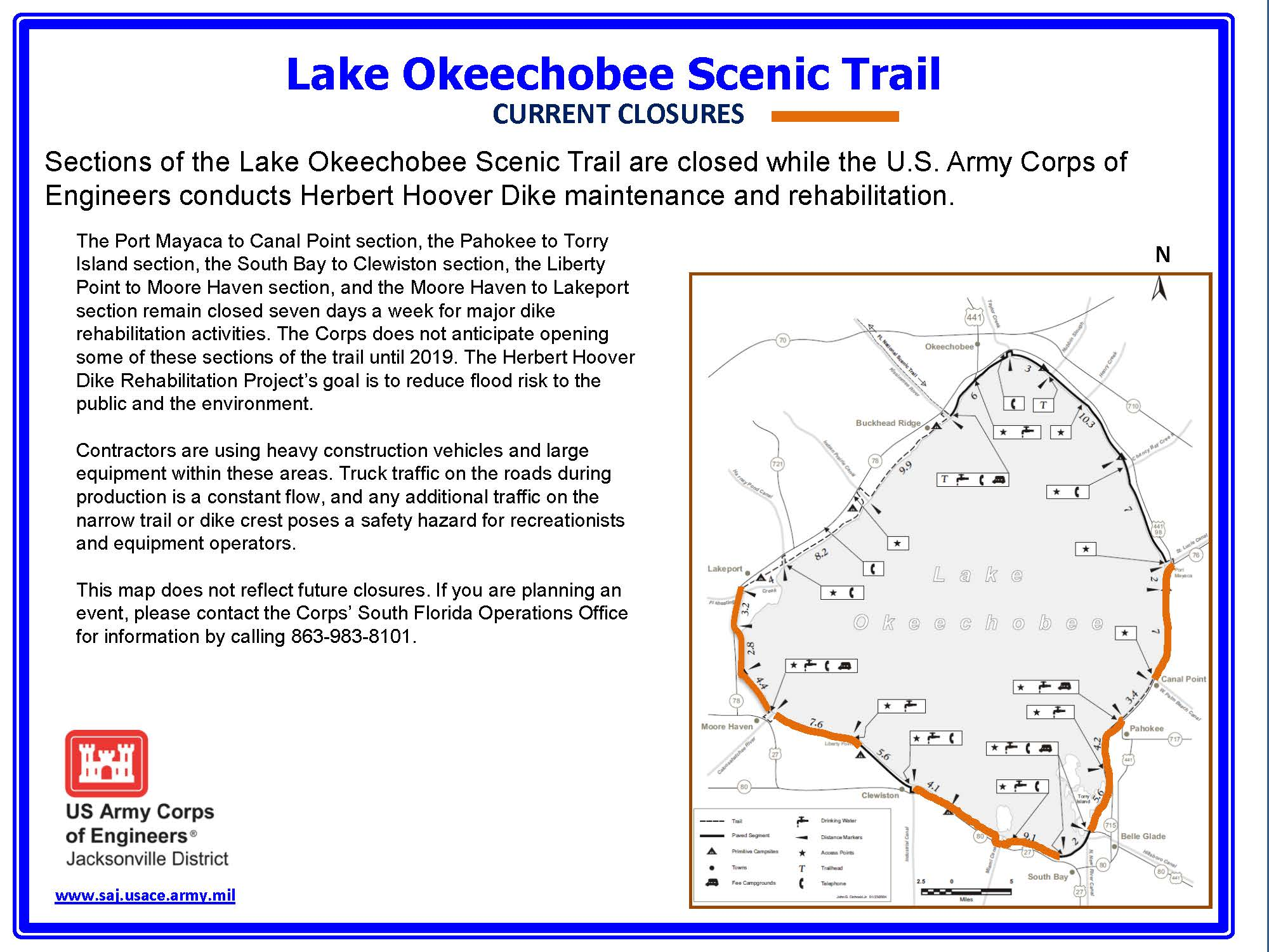 Corps reopens a section of Lake Okeechobee Scenic Trail