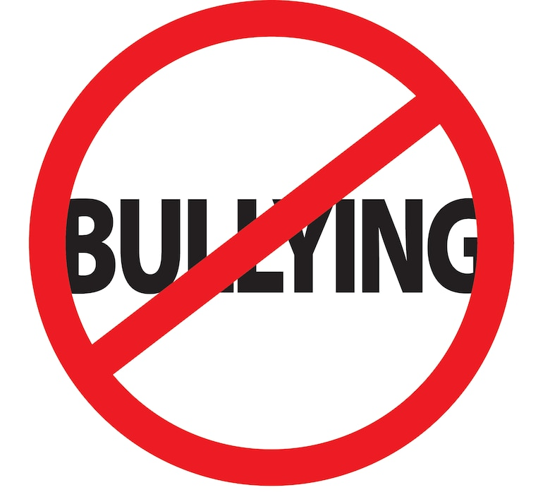 We recognize National Bullying Prevention Month in October. (U.S. Air Force graphic by Jan Kays/Released)