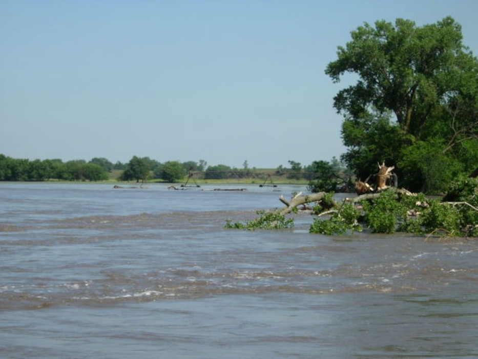 In 2010, high Elkhorn River flows caused extensive bank erosion and tree damage just upstream of County Road F and the Elkhorn River Bridge east of Scribner, Neb.