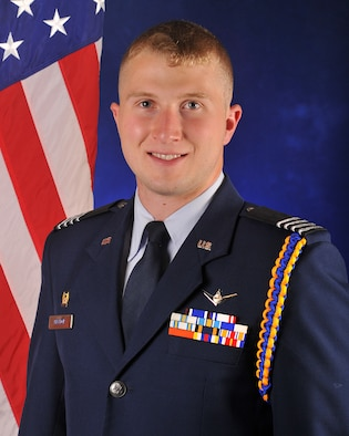Cadet Dylan J. Meador, a member of Angelo State University's Air Force ROTC Detachment 847, was named by the Air Force Association as the Outstanding ROTC Cadet of the Year for 2014. (Courtesy photo)