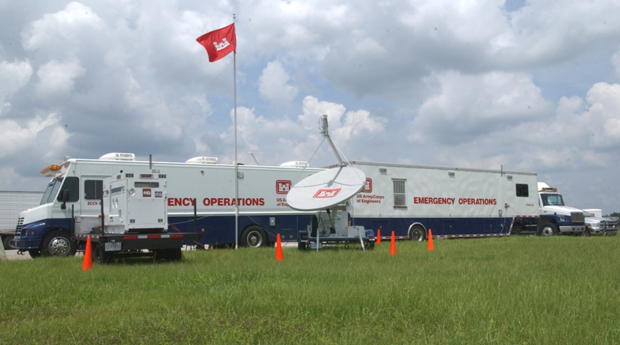 The Army Corps of Engineers mobilized its Deployable Tactical Operations System (DTOS) to Lakeland to provide support just days after Hurricane Charley moved into the area.  The DTOS system provides mobile command/control platforms and communications in support of initial emergency response missions.