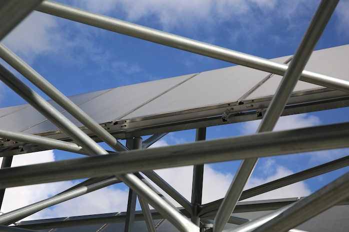 Photovoltaic panels, or solar panels, are one of the many projects aboard Marine Corps Air Station Beaufort to help reduce energy. In addition, Public Works asks that individuals help reduce the base energy bill by using electricity conservatively.