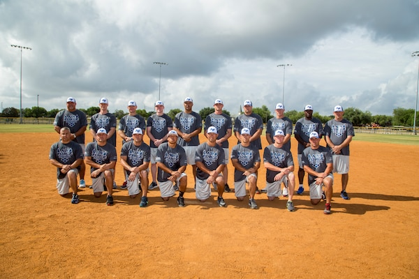 The 2014 All Air Force Ment's Softball Team (U.S. Air Force Photo by Joshua Rodriguez)