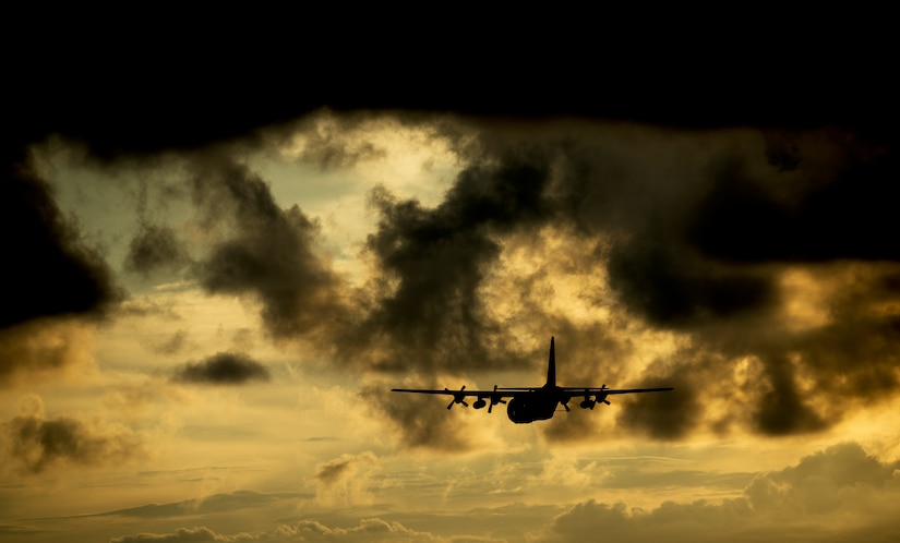 An Air Force Reserve aircrew flying a C-130 Hercules assigned to the 910th Airlift Wing, Youngstown Air Reserve Station, Ohio, performs aerial spraying for mosquitos Sept. 6, 2014, over Joint Base Charleston – Weapons Station, S.C. The insecticide the unit uses is mixed with water to dilute the product to exact specifications to cause no harm to insects or wildlife other than mosquitos. (U.S. Air Force photo/Senior Airman Dennis Sloan)