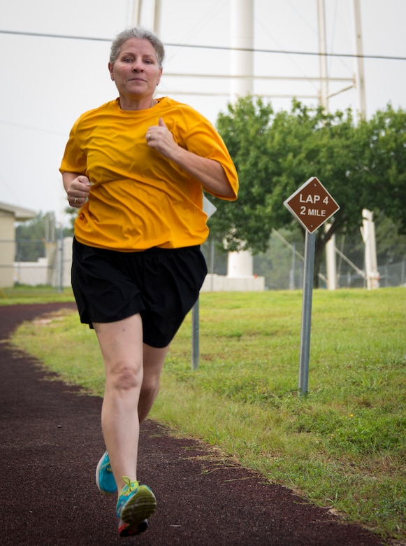 Kimberley Hernandez, 919th Special Operations Logistics Readiness Squadron, trains for the Warrior Games 400 and 1500 meter races at Duke Field, Fla.  She will also compete in the air rifle competition.  The event, hosted by the U.S. Olympic Committee's Paralympic Military Program, showcases more than 200 wounded, ill and injured members from all services. (U.S. Air Force photo/Tech. Sgt. Jasmin Taylor)
