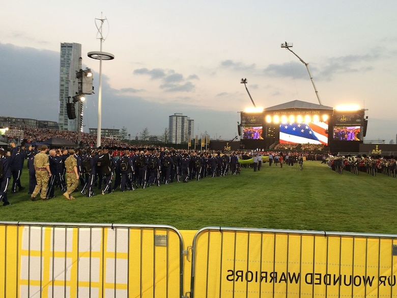 Team USA enters during the opening ceremony for the inaugural Invictus Games Sept. 10, 2014, in London. The Invictus Games are a Paralympic-style contest that features wounded warriors from different nations competing in various events. (Courtesy photo)