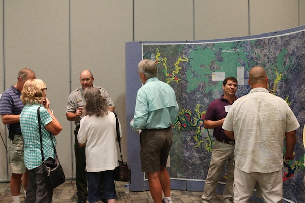 The Little Rock District is actively engaging the public in its effort to update the 1970s version of the Bull Shoals Lake Master Plan.   The agency currently hosted five public scoping workshops around Bull Shoals Lake to share information about the revision process and to collect public comments concerning potential development and land use management around the project. A master plan is the guidance document that describes how the resources of the lake will be managed in the future and provides the vision for how the lake should look in the future.