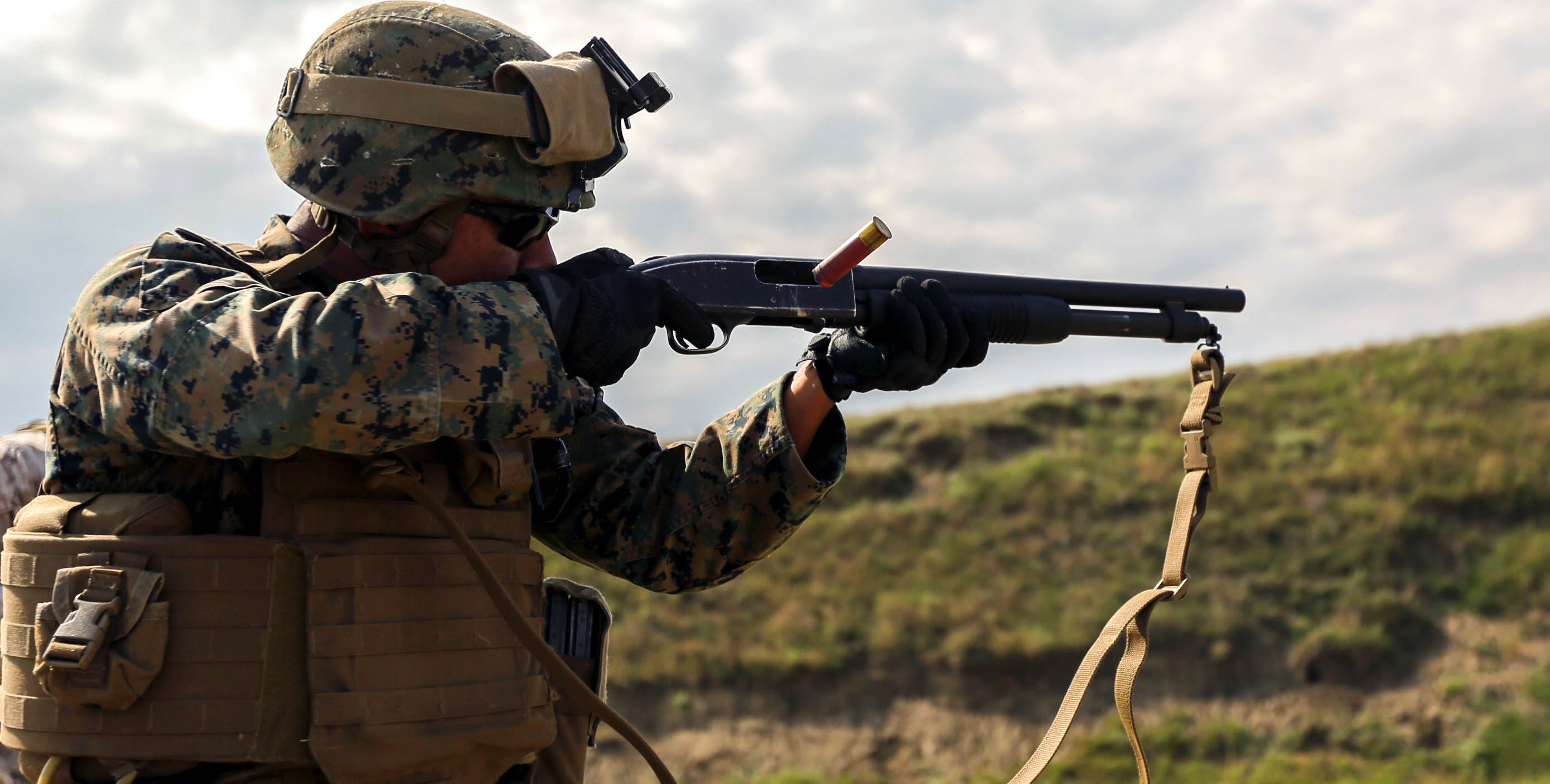 Image result for marine with a shotgun
