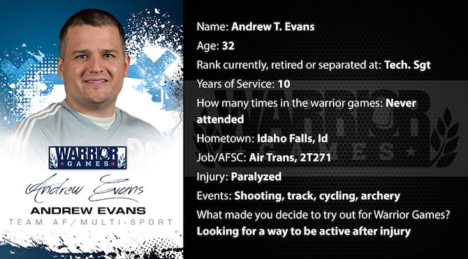 Warrior Profile -  Andrew Evans (U.S. Air Force graphic/Corey Parrish)