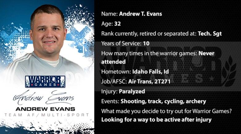 Warrior Profile -  Andrew Evans (U.S. Air Force graphic/Corey Parrish)