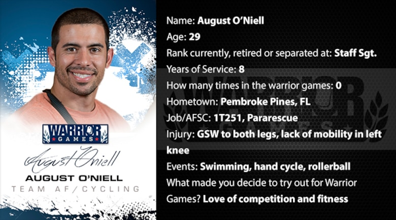 Warrior Profile -  August O'Niell (U.S. Air Force graphic/Corey Parrish)