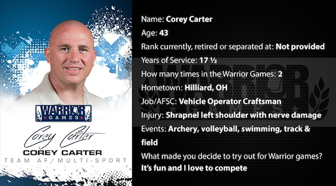 Warrior Profile -  Corey Carter (U.S. Air Force graphic/Corey Parrish)