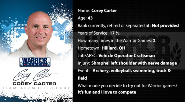 Warrior Profile -  Corey Carter (U.S. Air Force graphic/Corey Parrish)