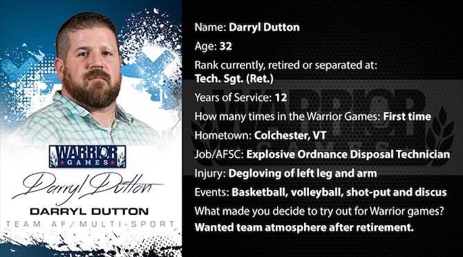 Warrior Profile -  Darryl Dutton (U.S. Air Force graphic/Corey Parrish)