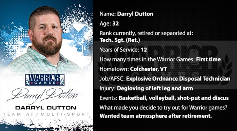 Warrior Profile -  Darryl Dutton (U.S. Air Force graphic/Corey Parrish)