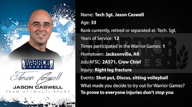 Warrior Profile -  TSgt Jason Caswell (U.S. Air Force graphic/Corey Parrish)