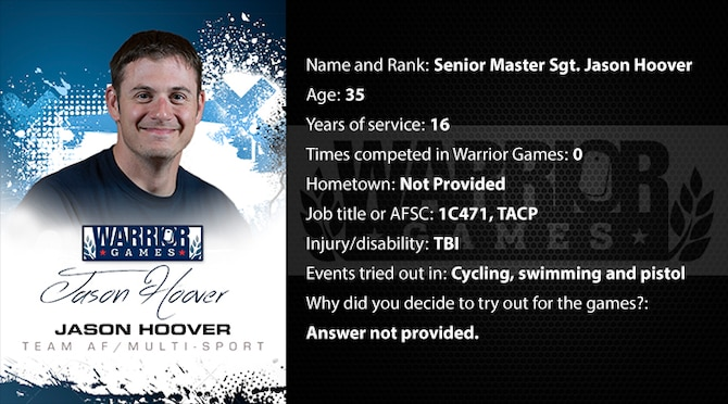 Warrior Profile -  SMSgt Jason Hoover (U.S. Air Force graphic/Corey Parrish)