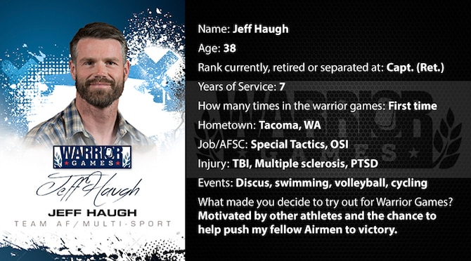 Warrior Profile -  Jeff Haugh (U.S. Air Force graphic/Corey Parrish)