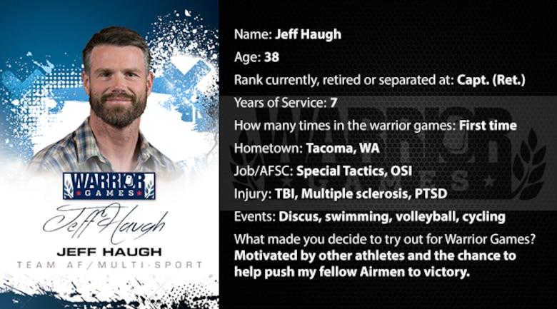 Warrior Profile -  Jeff Haugh (U.S. Air Force graphic/Corey Parrish)