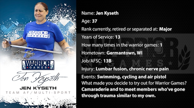 Warrior Profile -  Jen Kyseth (U.S. Air Force graphic/Corey Parrish)