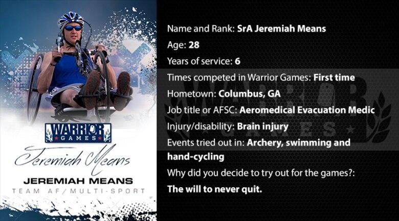 Warrior Profile -  SrA Jeremiah Means (U.S. Air Force graphic/Corey Parrish)