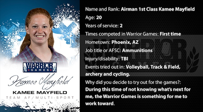 Warrior Profile -  A1C Kamee Mayfield (U.S. Air Force graphic/Corey Parrish)