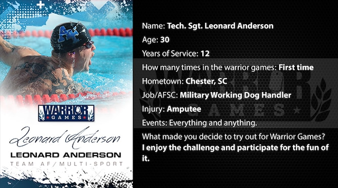 Warrior Profile -  TSgt Leonard Anderson (U.S. Air Force graphic/Corey Parrish)