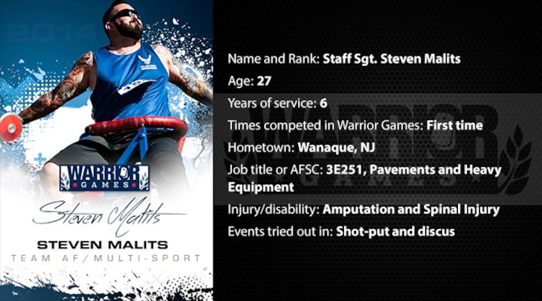 Warrior Profile -  SSgt Steven Malits (U.S. Air Force graphic/Corey Parrish)