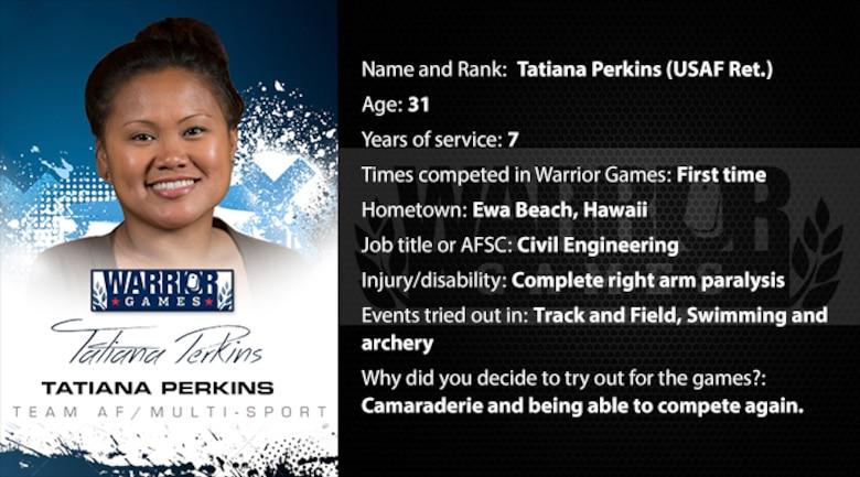 Warrior Profile -  Tatiana Perkins (Ret.) (U.S. Air Force graphic/Corey Parrish)