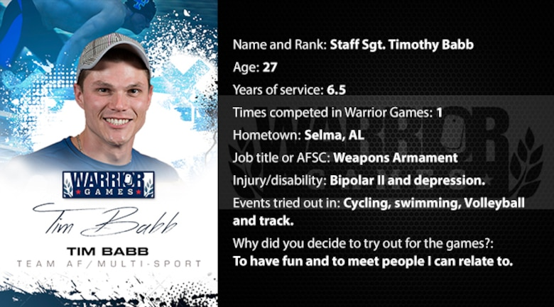 Warrior Profile -  SSgt Timothy Babb (U.S. Air Force graphic/Corey Parrish)