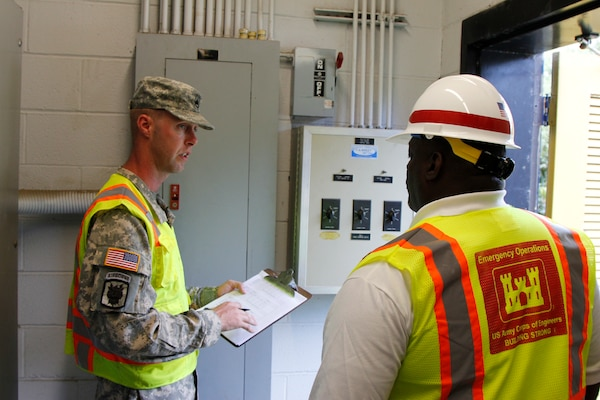 The 249th Engineer Battalion conducted inspections with our Emergency Management Division.