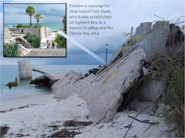 Fort Dade, a part of Tampa's coastal defense system established in 1898, is slowly eroding.