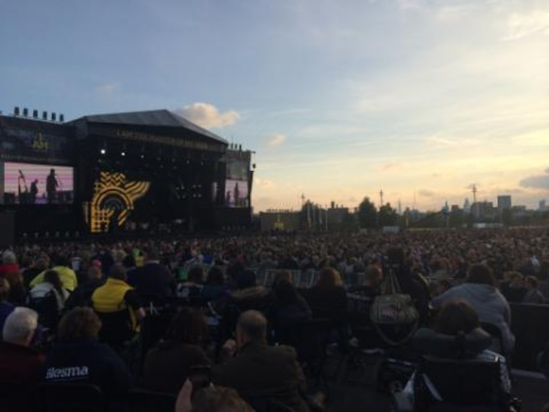 Approximately 26,000 people showed up to the closing ceremony for the inaugural Invictus Games Sept. 14, 2014, in London. The games featured athletes competing in various Paralympic-style events, including swimming, track and field, seated volleyball, wheelchair basketball, and wheelchair rugby, among others. (Courtesy photo)