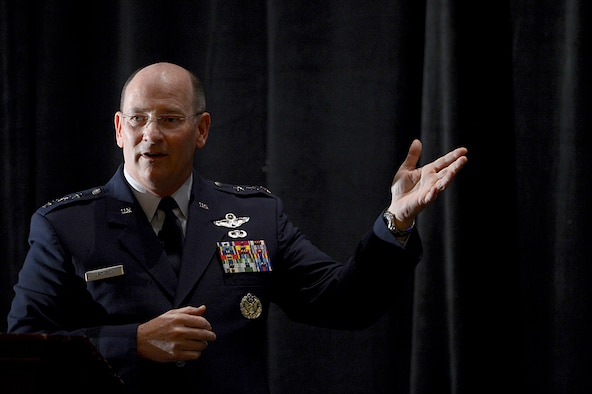 Chief of the Air Force Reserve Lt. Gen James F. Jackson, gives his insight on the reserve component during Air Force Association's Air and Space Conference and Technology Exposition, in Washington, D.C., Sept. 15, 2014.  (U.S. Air Force photo/Scott M. Ash)