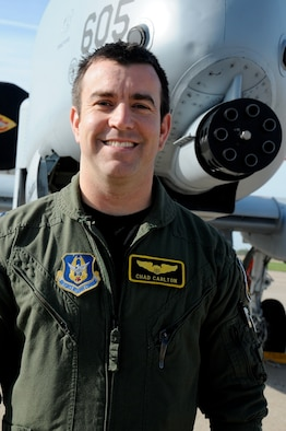 Maj. Chad Carlton, a fighter pilot from the 442d Fighter Wing, was selected for the 2014 AFRC Sijan Award. He is currently deployed as a weapons officer in Afghanistan. Maj. Carlton will go on to compete for the Air Force-wide Sijan Award. (Photo submitted by Lt. Col. Virga Ramos)