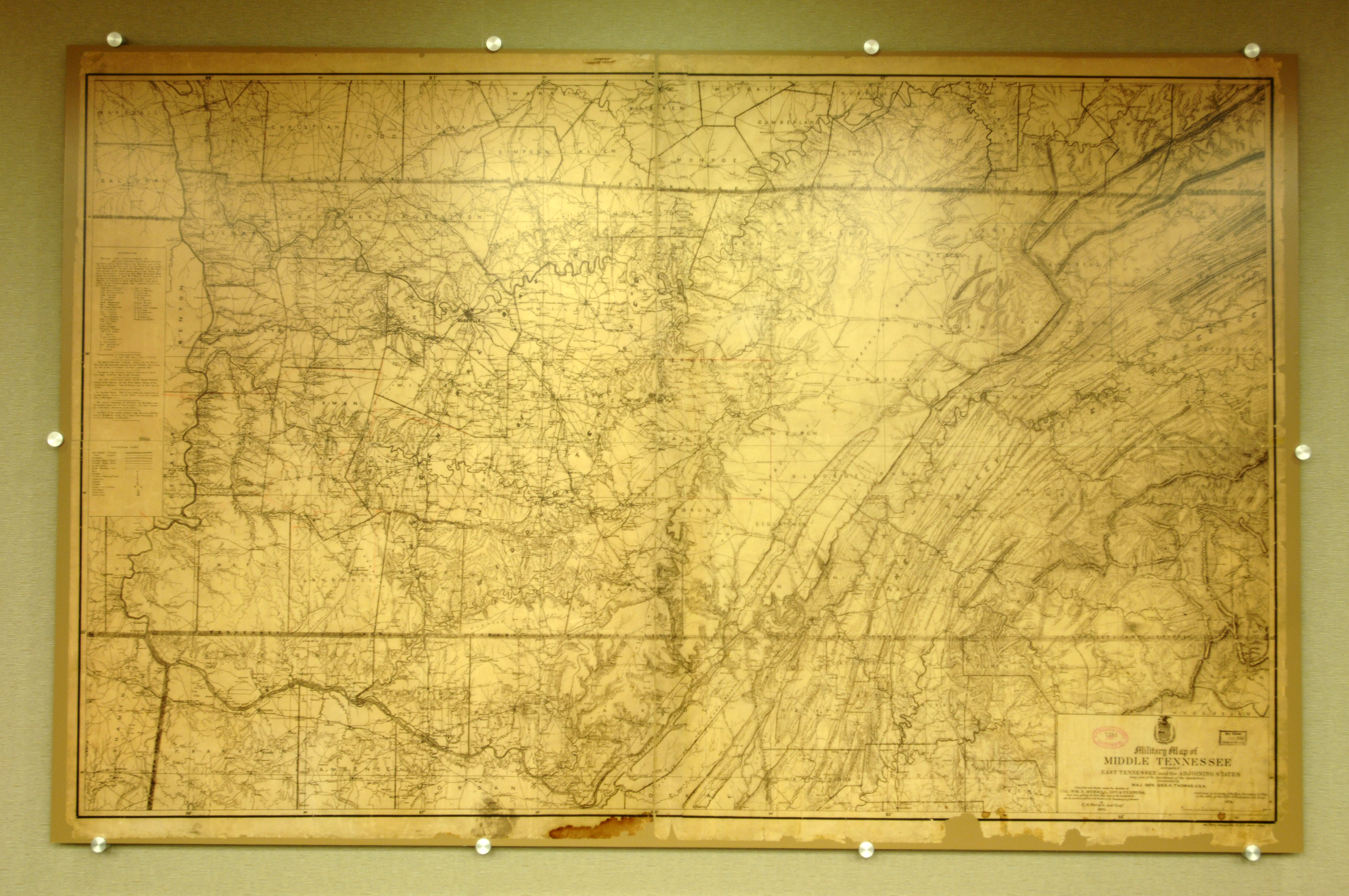Nashville District showcasing historical maps from 1800s