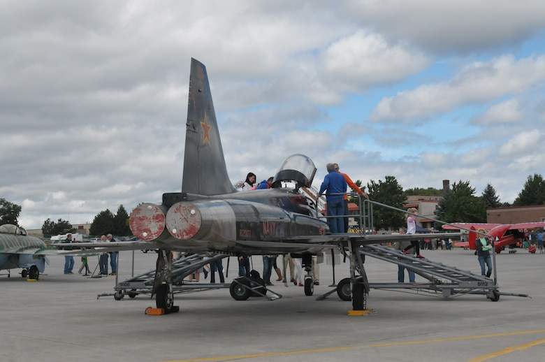 About 3,000 people attended the 109th Airlift Wing's Family Day at Stratton Air National Guard Base, N.Y., on Sept. 14, 2014. The day included food, music, games, static displays and much more for Airmen and their families. (U.S. Air National Guard photo by Master Sgt. William Gizara/Released)
