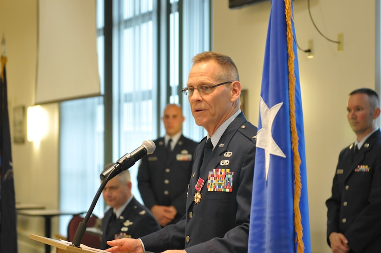 Col. Walter Wintsch retired in a ceremony Sept. 13, 2014, at Stratton Air National Guard Base, N.Y., after nearly 40 years of service. Before retiring, he relinquished command of the 109th Mission Support Group to Lt. Col. Jeffrey Hedges.  (U.S. Air National Guard photo by Master Sgt. William Gizara/Released)