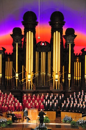 A Marine Brass and Percussion Ensemble will perform with the Mormon Tabernacle Choir at the Tabernacle on Temple Square in Salt Lake City for the choir's Music and the Spoken Word broadcast Sunday, Sept. 21. (Image ©2014 by Intellectual Reserve, Inc. All rights reserved)
