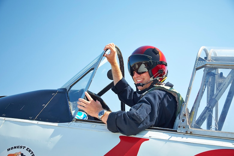 Lt. Col. Kevin Sutterfield lands his T-6 after an exciting final race at the 51st Annual National Championship Air Races Sept. 14. (Courtesy Photo)