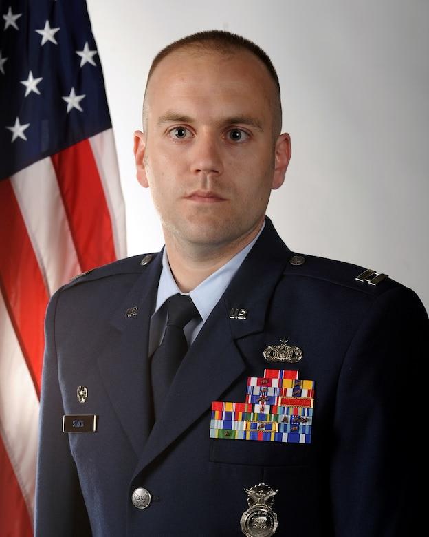 Capt. Jason E. Stack, 460th Security Forces Squadron commander