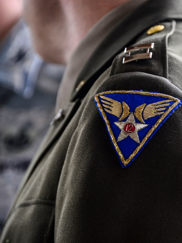 Jeffery McGovern, 12th Air Force (Air Forces Southern) historian, wears a Army Air Corps uniform to 12th AF (AFSOUTH)'s 67th Air Force Birthday at Davis-Monthan AFB, Ariz., Sept. 18, 2014.  Founded on Sept. 18, 1947, President Harry S. Truman signed the National Security Act that not only established a new defense organization but also established the U.S. Air Force as an independent service.  Over the past 67 years the U.S. Air Force has made its mark in history and around the world as it focuses its efforts on maintaining air, space, and cyberspace superiority.  (U.S. Air Force photo by Tech. Sgt. Heather R. Redman/Released)