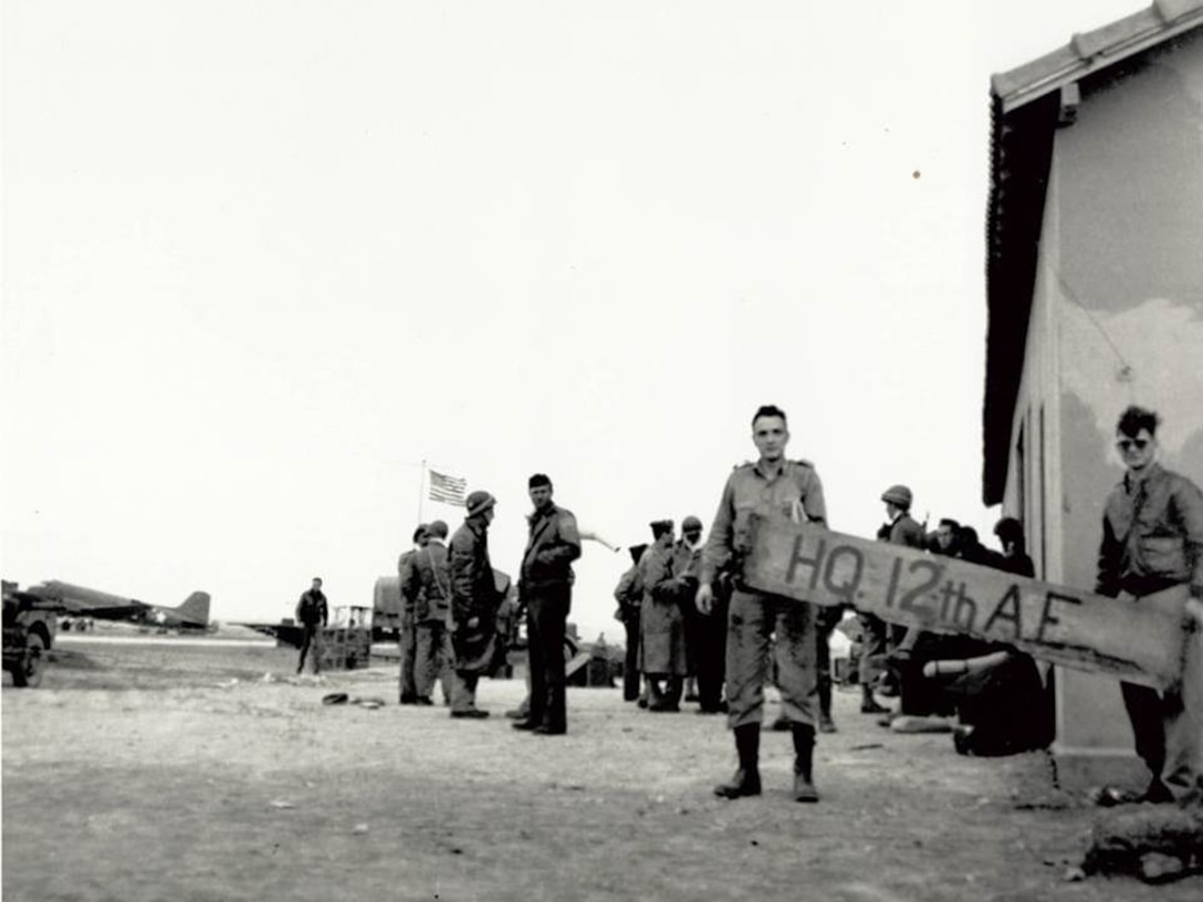 In November 1943 the first operational headquarter for 12th Air Force is established in Tafraoui, Algeria. (Courtesy Photo)