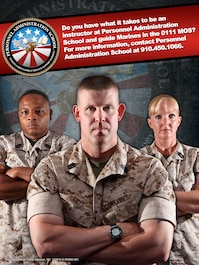 Personnel Administration Recruiting Poster for MOS 0111
