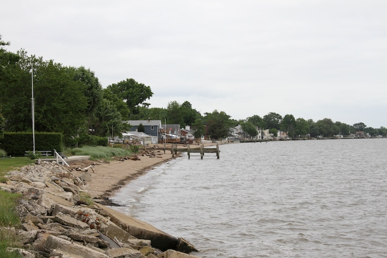 The U.S. Army Corps of Engineers' Philadelphia District awarded a contract on Sept 18, 2014 to construct a 50-foot wide berm at Oakwood Beach in Salem County, N.J. The project is designed to reduce storm damages to infrastructure and was funded through the Disaster Relief Appropriations Act of 2013 (Public Law 113-2, or often referred to as the Hurricane Sandy Relief Bill).