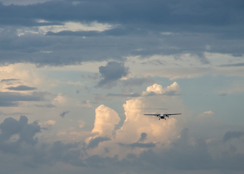 A C-145 Skytruck approaches the drop zone during a training mission Sept. 15, at Duke Field, Fla.  The Airmen of the SOLRS prepare and load an average of 24 to 48 loads per week to help train pilots and loadmasters from the 5th, 6th, and the 711th Special Operations Squadron. (Air Force photo/Tech. Sgt. Jasmin Taylor)