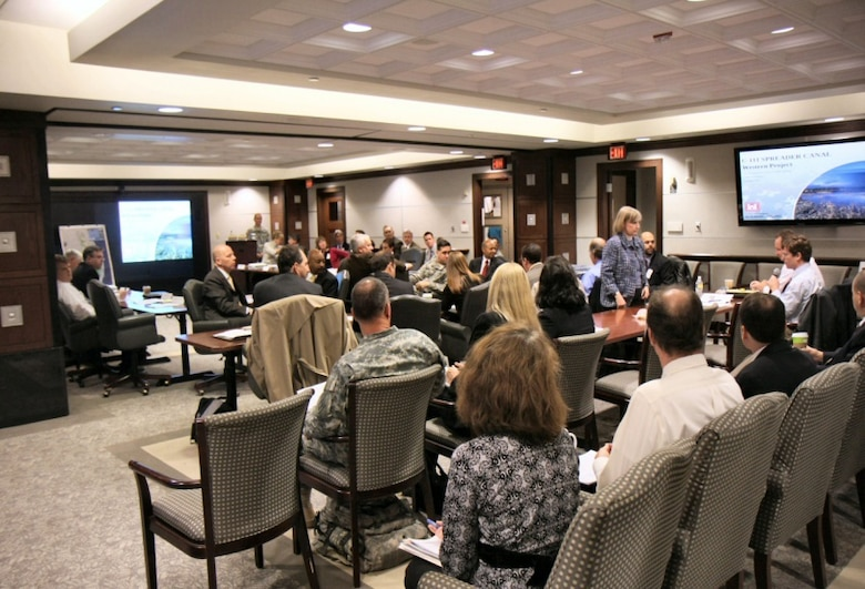 The Civil Works Review Board, held at USACE Headquarters in Washington, D. C., is a critical step in getting a water resource construction project funded by Congress.