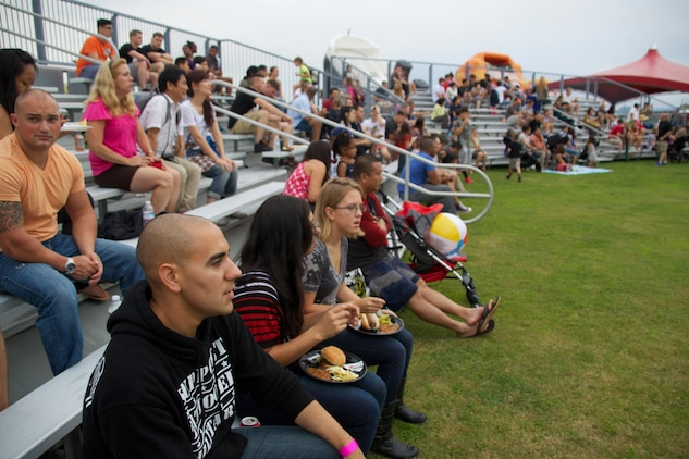 Marine Corps Community Services hosted the 2014 Summer Music Festival at Penny Lake fields aboard Marine Corps Air Station Iwakuni, Japan, Sept. 6. Attractions ranged from free food, live performances, a kid's play land, and a feature performance from country music song writers Annie Bosko and Danny Myrick.